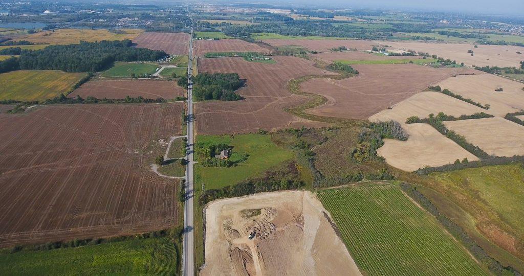 Aerial photo of proposed quarry lands
